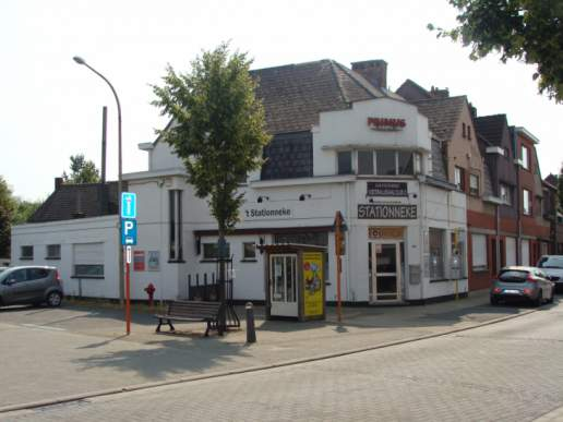 Handelspand in centrum Kessel station